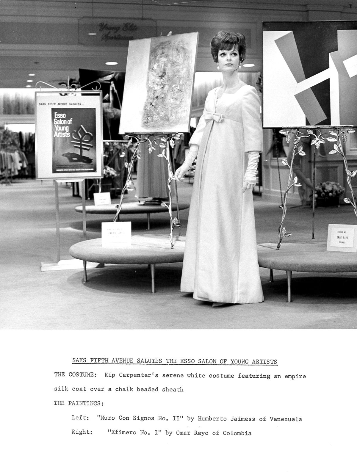 AMA + Saks Fifth Avenue (Chevy Chase) circa 1964-65. Art and fashion have always gone so well together.     The painting in the foreground is by Omar Rayo. Check out more by Rayo in our current exhibit, Constellations.     http://www.AMAmuseum.org