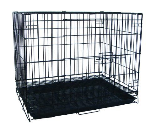 YML 30-Inch Foldable Light Duty Door Dog Crate with Wire Bottom ...