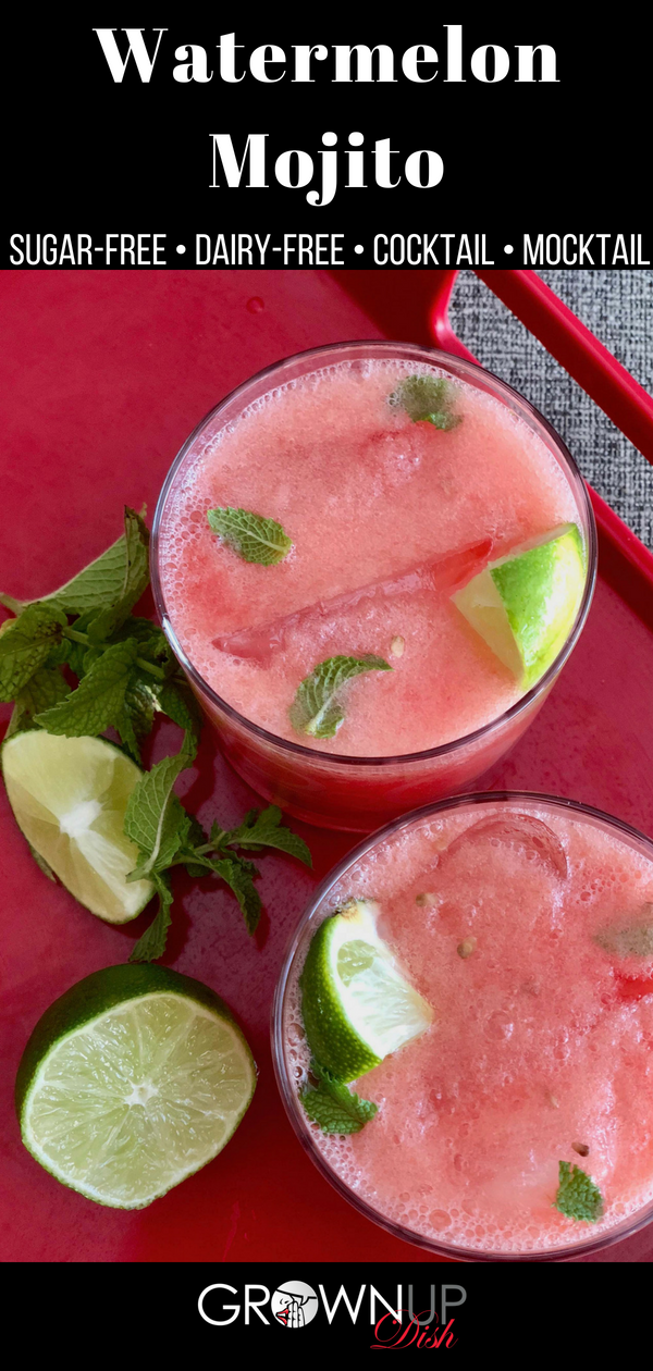 Watermelon Mojito Cocktail or Mocktail #cocktaildrinks
