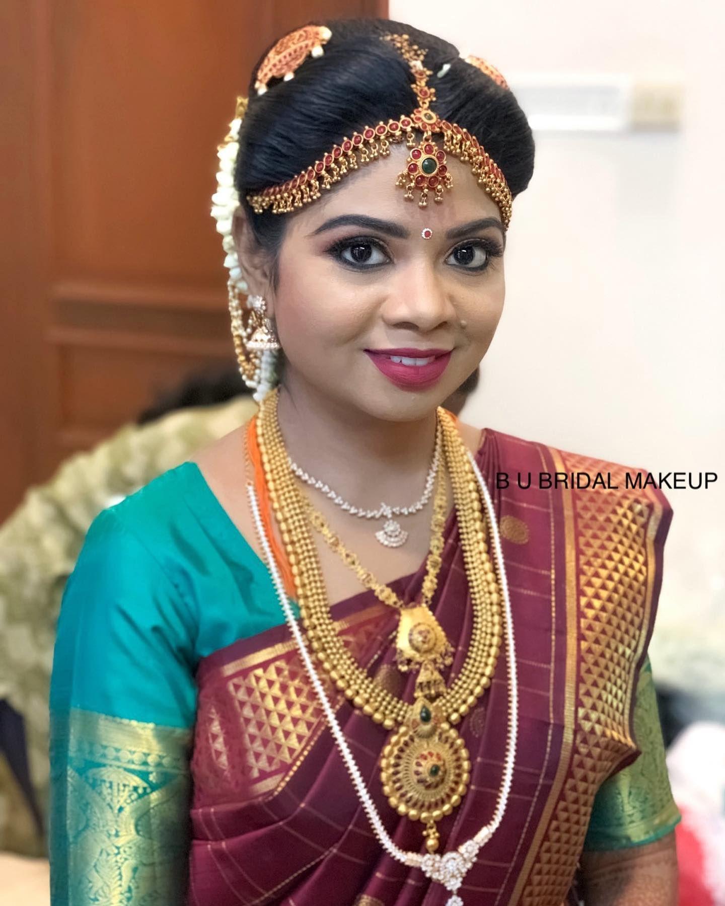 Bride Bhuvana Wedding Reception Chennai Makeup Airbrush Temptuairbrush Tnagar Tamilnadu Hairstyle Mua Chenna Bridal Makeup Bridal Temptu Airbrush