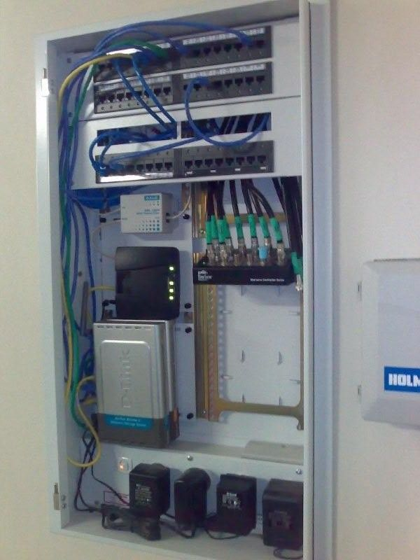 Data Cupboard Basement Ideas Network Rack Structured