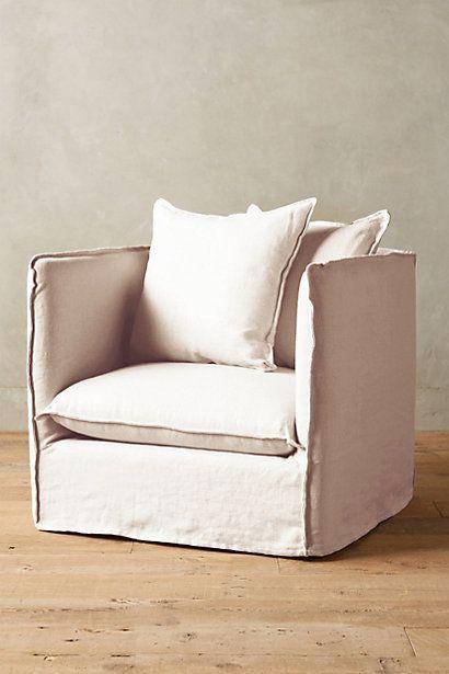 belgian linen carlier slipcover armchair anthropologie room