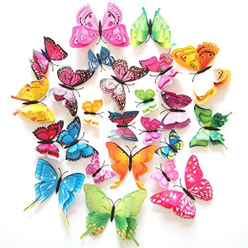 12pcs 3d Butterfly Stickers Wall Stickers Crafts Butterflies With