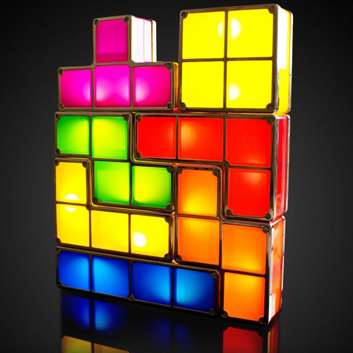 Lampe Tetris Le Cadeau Geek Et Nostalgique 8 Bit Led Profil