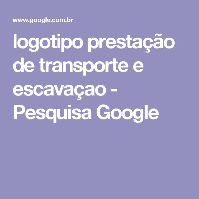 logotipo prestação de transporte e escavaçao - Pesquisa Google