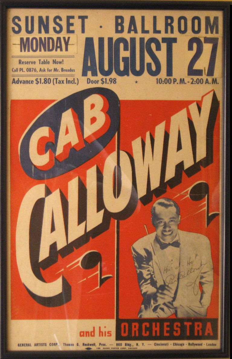 Cab Calloway At The Sunset Ballroom Vintage Concert