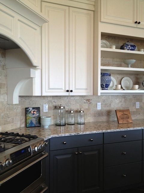 white upper cabinets with charcoal base cabinets bronze hardware kitchen remodel on kitchen cabinets upper id=31924