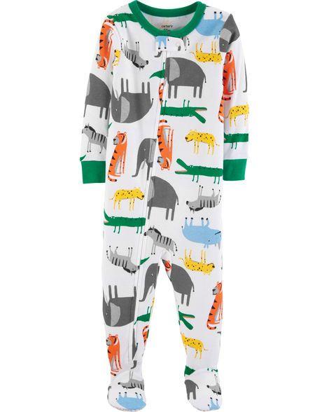 97c7ab63b 1-Piece Animals Snug Fit Cotton PJs