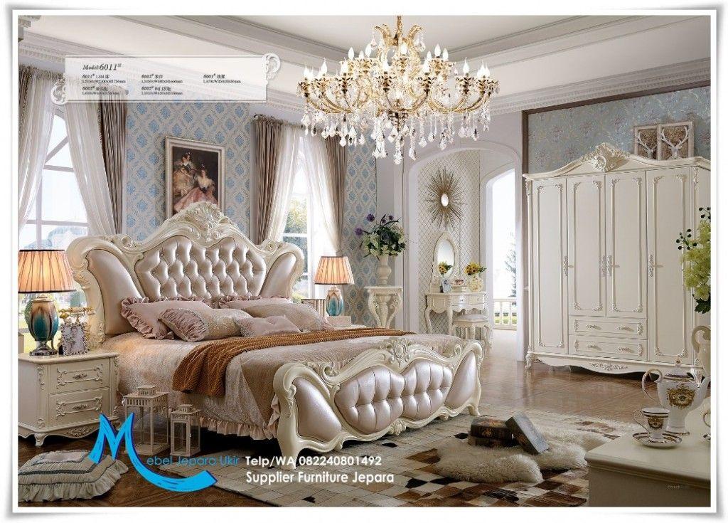 Modern Furniture Jepara set kamar tidur ukiran mewah italian putih modern | mebel jepara