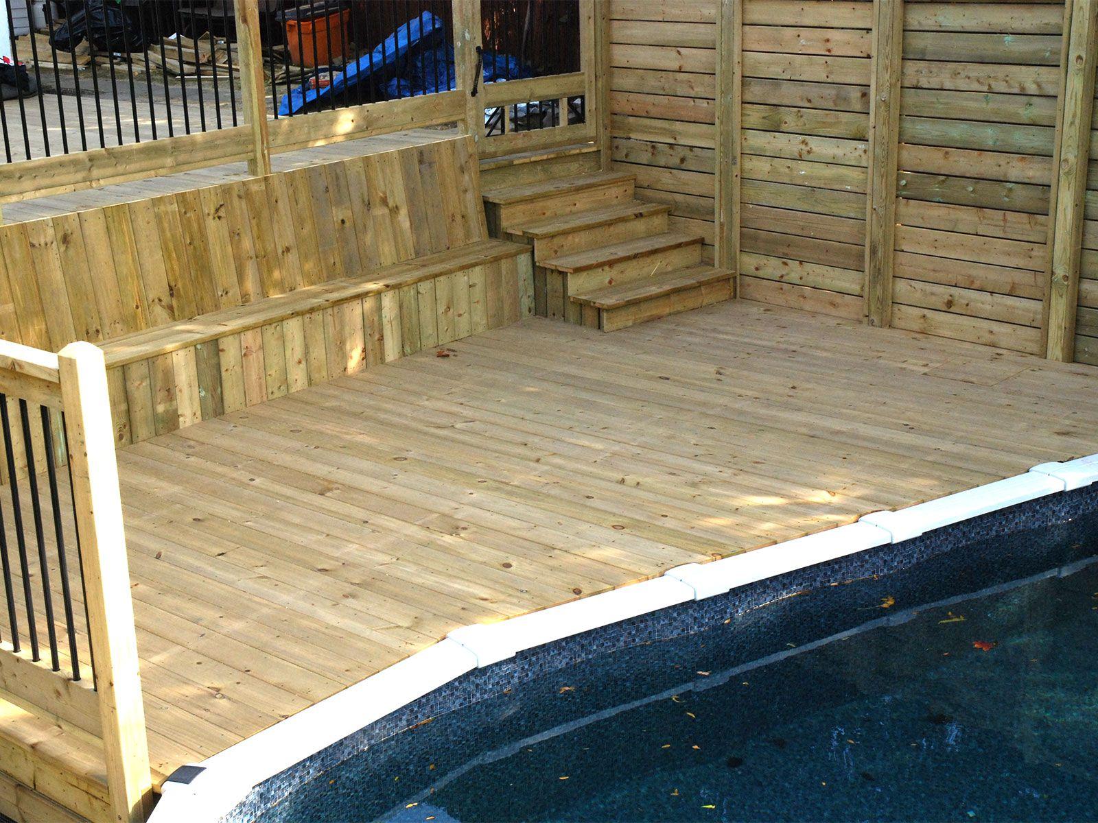 Plancher de deck de piscine à St-Bruno   patios   Pinterest   Decks