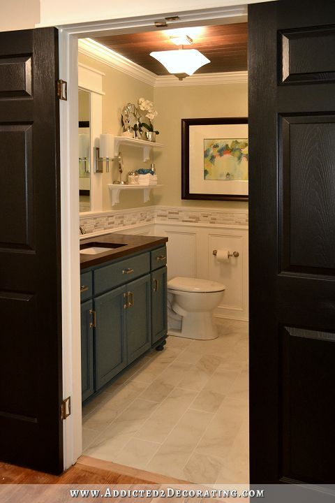 Hallway Bathroom Remodel: Before & After | Diy bathroom remodel, Diy ...