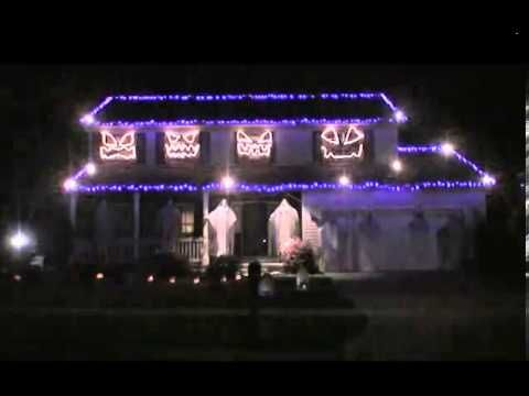 ▶ Runnin with the devil - 2013 Halloween Light Show - YouTube