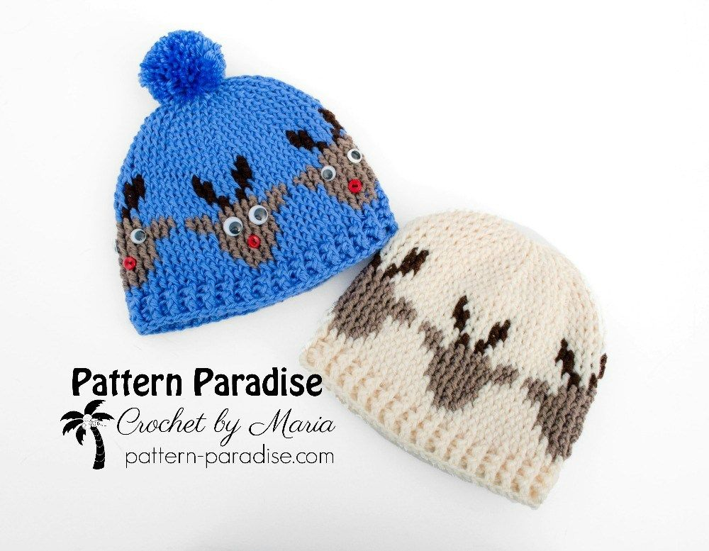 Free Crochet Pattern: Reindeer Hat | Pattern Paradise | almost ...