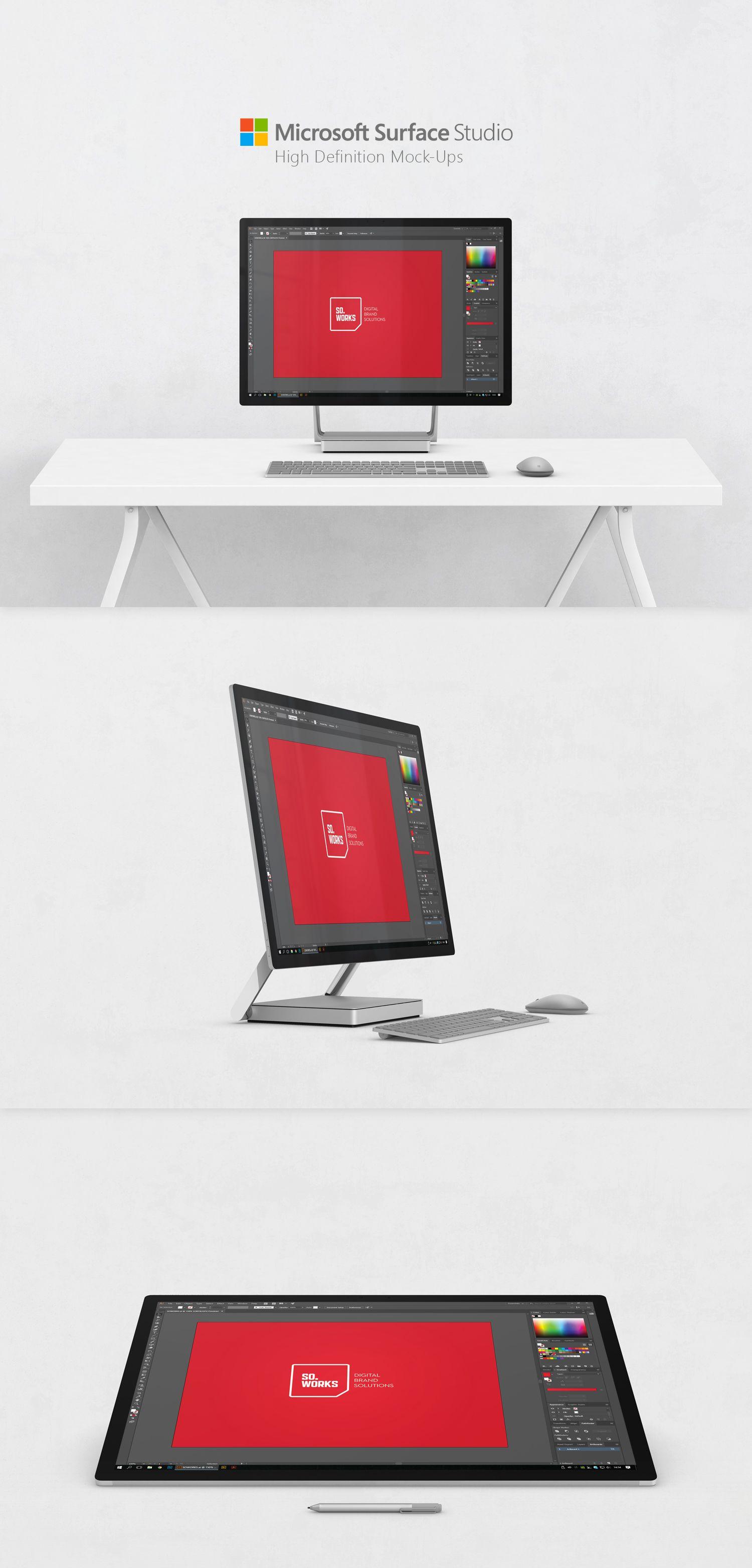 0c9fab72d1270 Free Microsoft Surface Studio Screen Mockup PSD