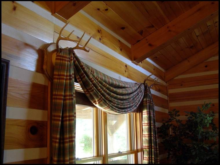 Deer Antler Curtain Rod Holders