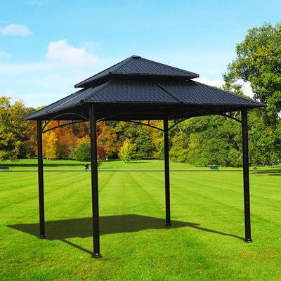 Sunjoy Sumac 10 Ft W X 10 Ft D Steel Permanent Gazebo Gazebo Patio Gazebo Pergola