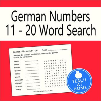 German Number Word Search 11 To 20 Translate Into Spanish Words Hugh Gallagher College Essay