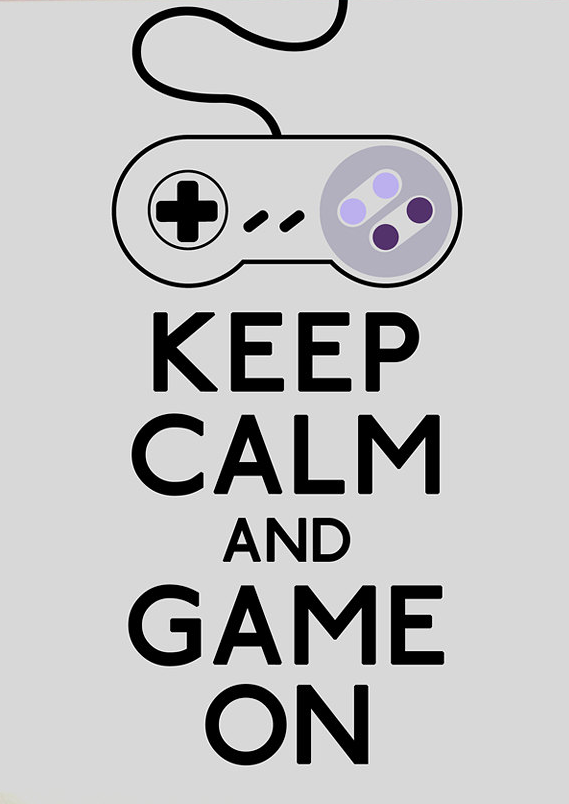 Calm? Most gamers aren't familiar with that concept when in possession of a controller. - http://giftcardsforgamers.com