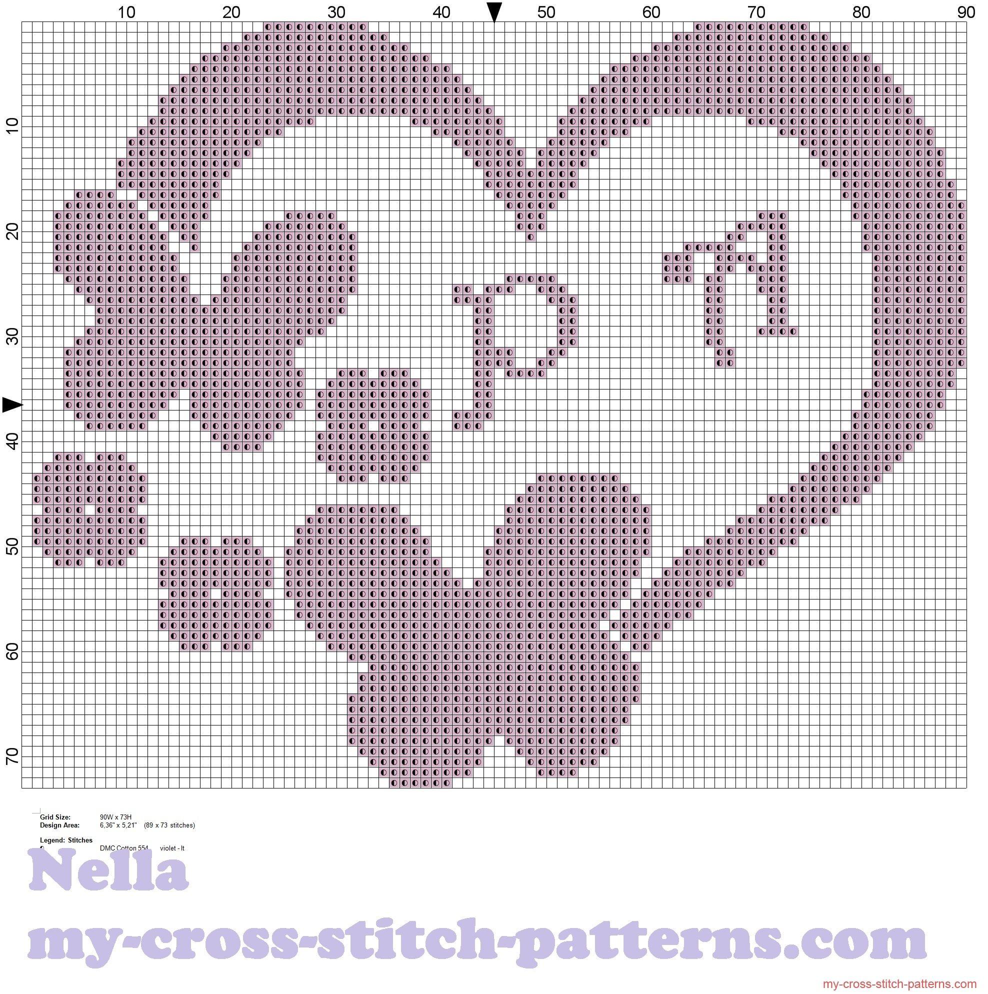 Cojines para anillos corazon con mariposas monocromo | BORDADO ...