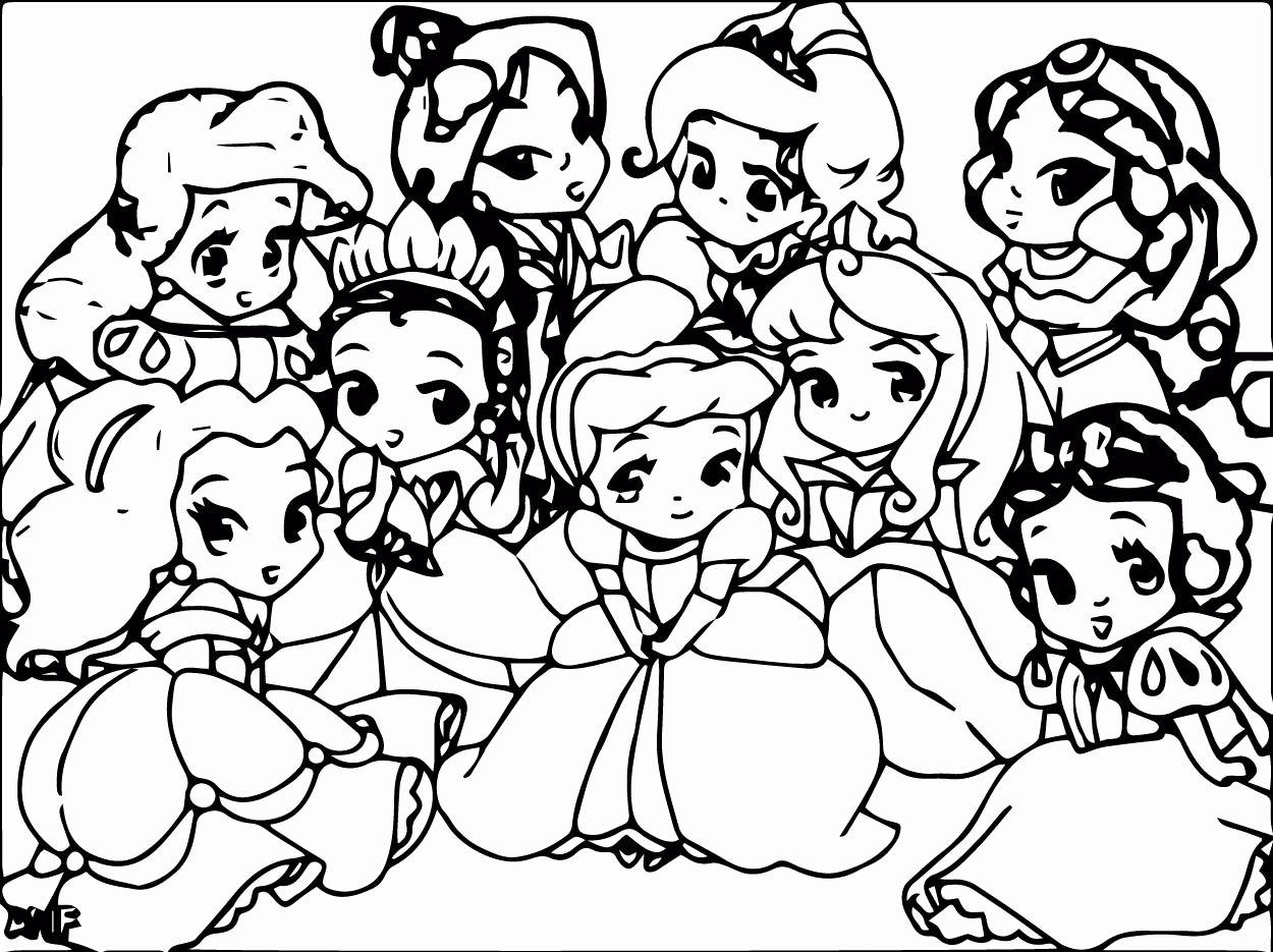 Disney Princesses Printable Coloring Pages Luxury Coloring Books Disney Princess Baby Coloring Pages Halaman Mewarnai Disney Gambar