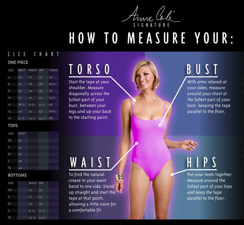 442c7fb1d2b Anne Cole Size Chart | Style-Me/ Workout, Fun & LeisureClothing ...
