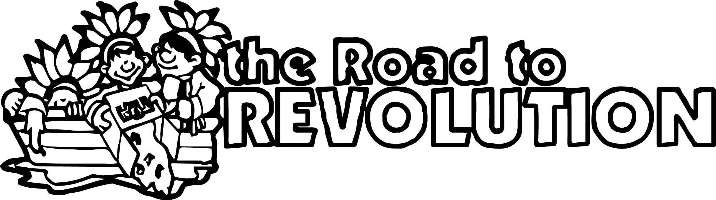 American Revolution Banner Road To Revolution Coloring Page ...