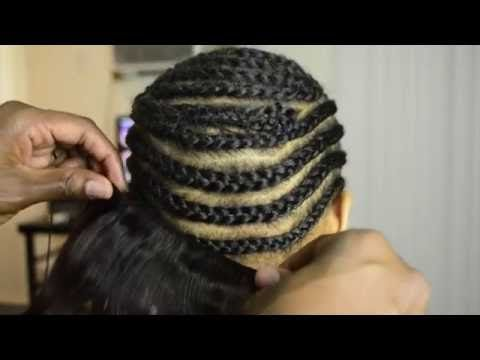 HOW TO DO Full Sew In WEAVE No Leave Out Tutorial ( BEGINNERS ...