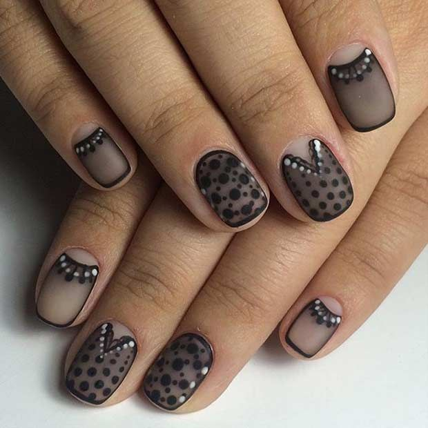 25 Edgy Black Nail Designs Stayglam Beauty Pinterest Short