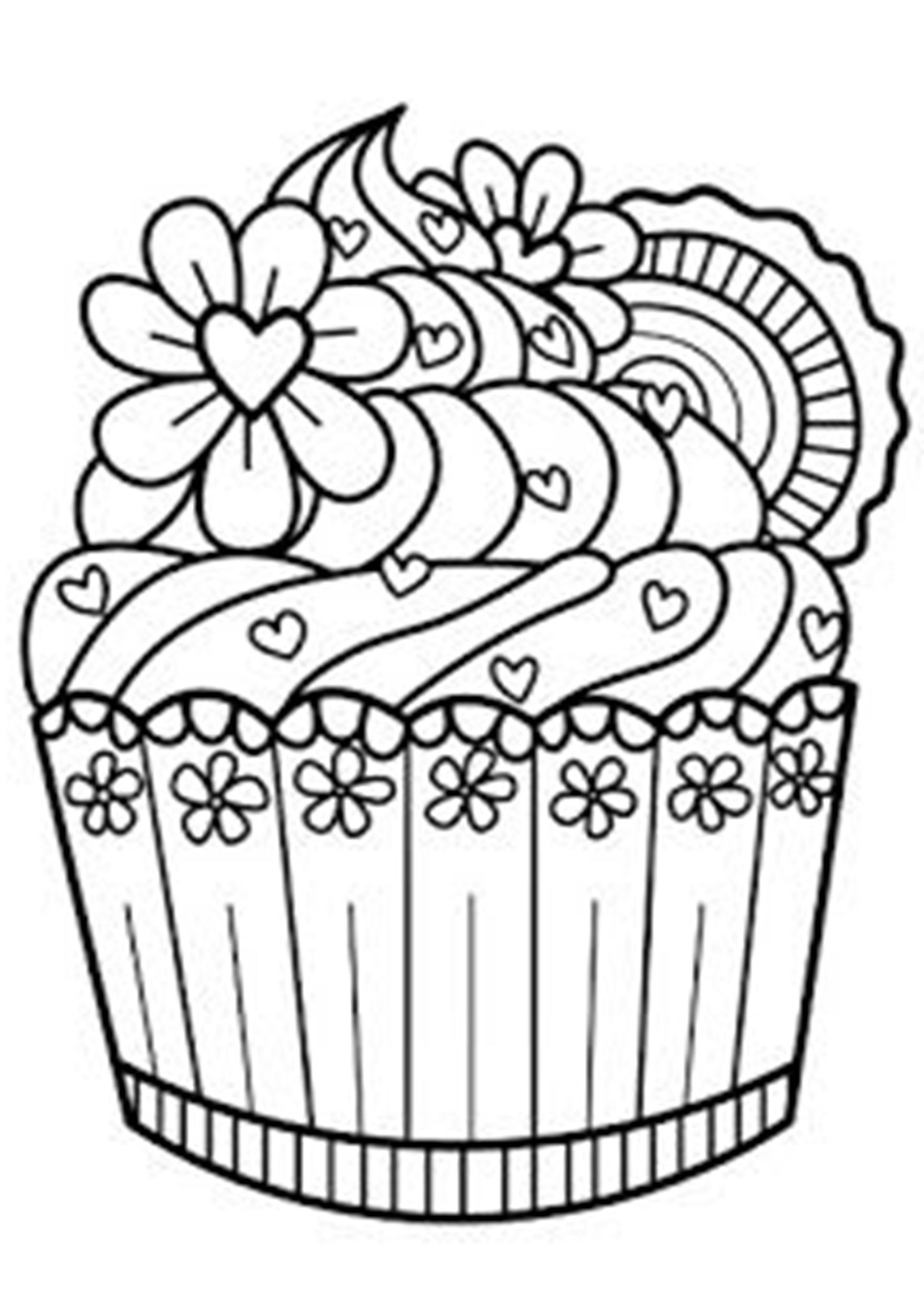 49++ Cupcake coloring pages for adults ideas