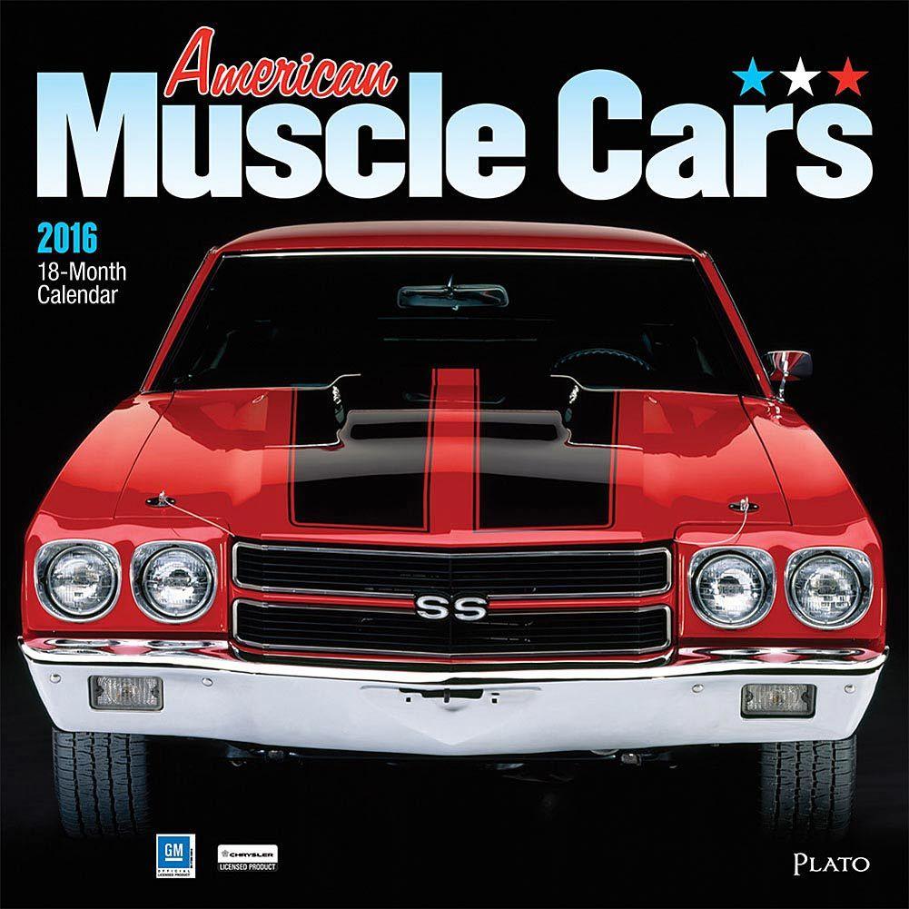 American Muscle Cars 2019 Wall Calendar   Car silhouette ...