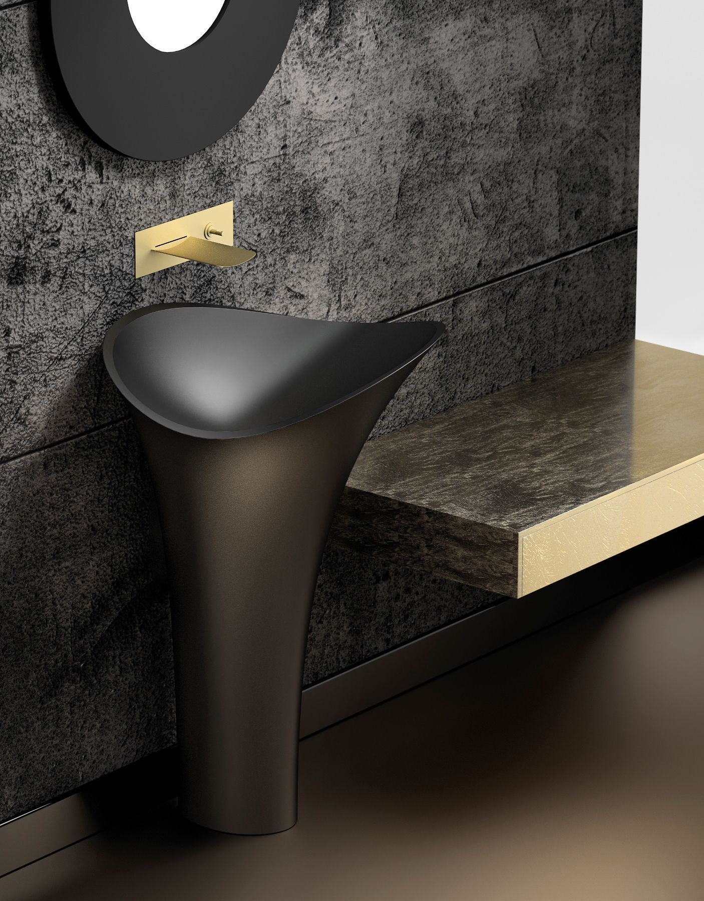 Salle De Bain Evolution ~ lavabo freestanding flower evolution en vetrofreddo by glass design