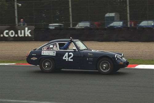 "MG Midget ""Works"" cars YRX 727 / 737 / 747(not pictured) .. had wings, bonnet , boot lid door skins all replaced with alloy panels , and where fitted with the 995cc Formula junior racing engine , 727s 1st outing was the 1961 RAC , finishing 8th o/h and 1st in class with 737 2nd in class .. 747s 1st appearance was the 1962 RAC , finishing in 33rd place , but 1st in class , and the 1963 Monte Carlo rally once again winning its class . was damaged beyond repair in the mid 70s and scrapped"