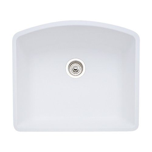 Blanco 511 711 Diamond 24 Inch By 20 13 16 Inch Single Bowl Kitchen Sink White Finish Blanc Single Bowl Kitchen Sink Undermount Kitchen Sinks Single Bowl Sink