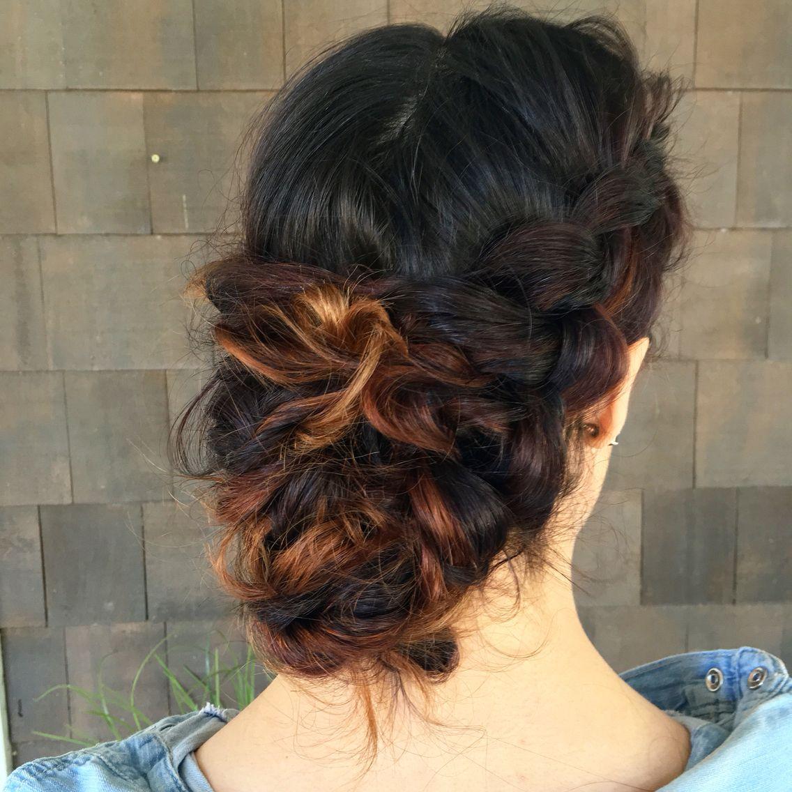 Braided romantic upstyle   Long hair styles, Hair styles ...