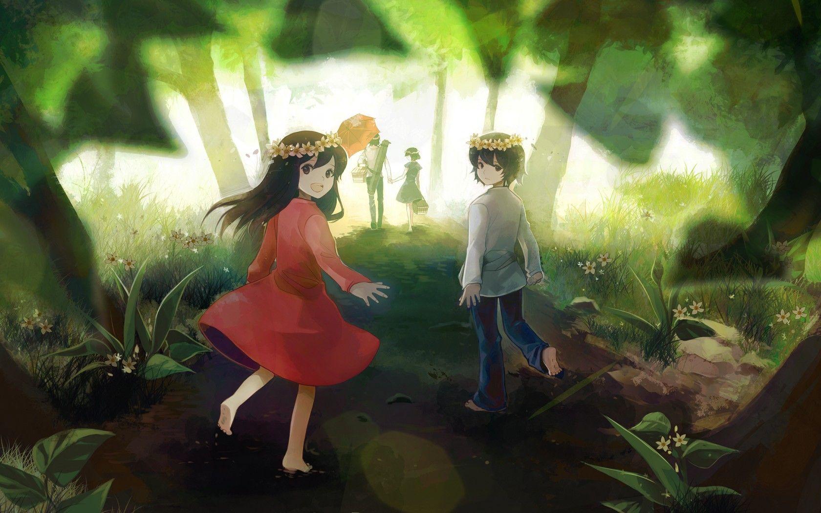 wolf children wallpaper Google Search Anime and Manga