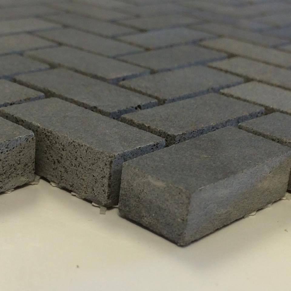 Basalt Herringbone Mosaic 0 6 X 1 3 Mesh Mount Sheet Granite Tile