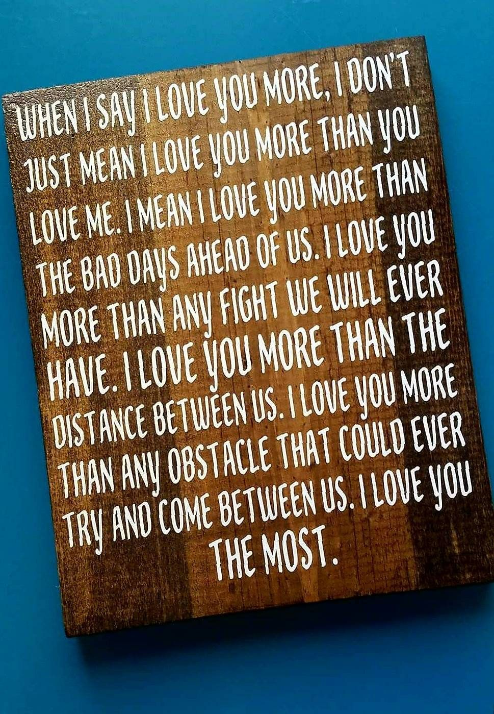 I Love You More, Valentine's Day Gift For Him, Gift For Husband, Birthday Gift F…