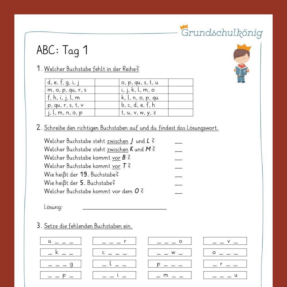 Abc Vorschau1 Grundschulkonig Abc Das Abc
