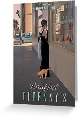 Breakfast At Tiffany's Greeting Card & Postcard by Aftaelass