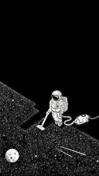 Space Astronaut Star Vacuum Astronaut Wallpaper Art Astronaut Art Astronaut black and white wallpaper