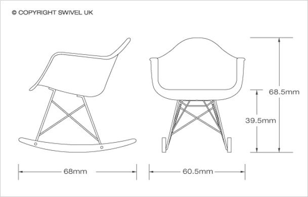 Zeichnung Des Stuhls Charles And Ray Eames Eames