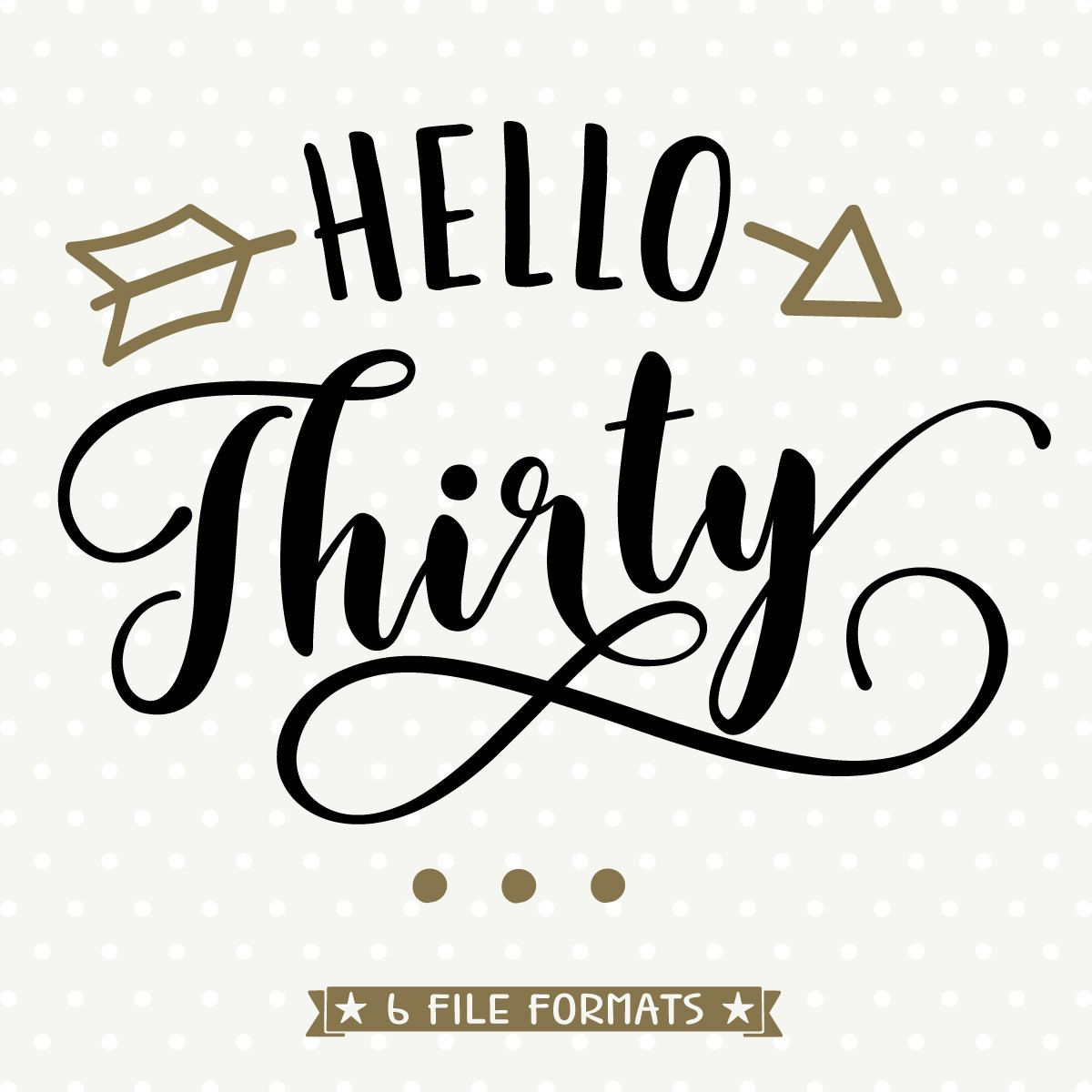 30th Birthday File Hello Thirty Womens Birthday Svg