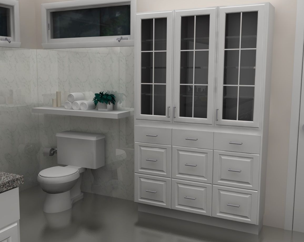 Simple And Modern Ikea Bathroom Designs With White Shelf On Corner Design Linen Storage Cabinet Linen Cabinets Bathroom Cabinets Ikea