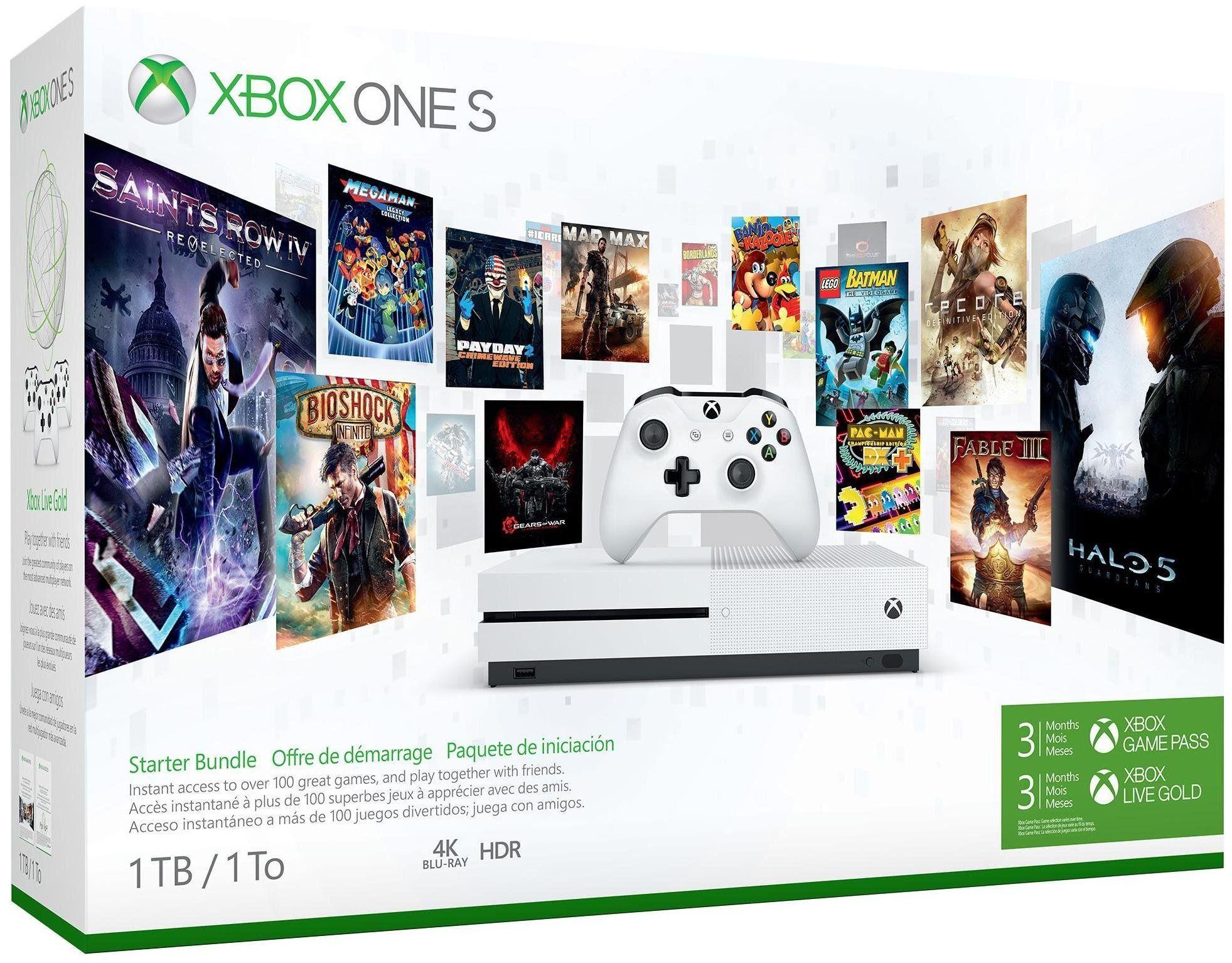 Xbox One S Starter Bundle 1tb White Xbox One S 1tb Xbox One Xbox One S