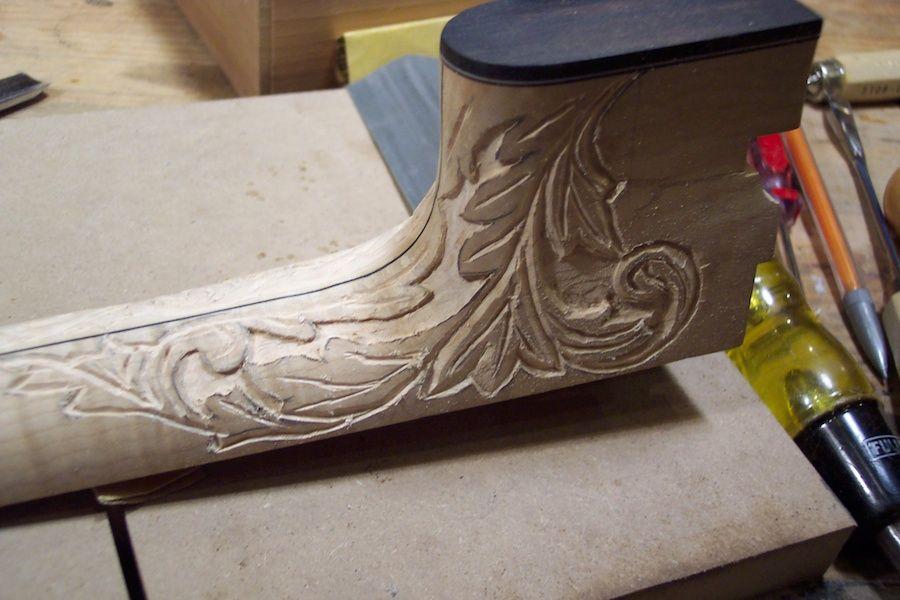 Custom tenor banjo 95 gs skipper banjo carving