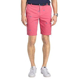 Izod® Men's Flat Front Beachtown Whale Shorts