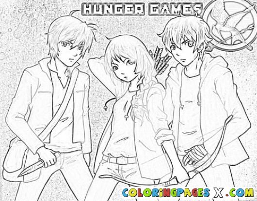 Free Printable The Hunger Games Coloring Page For Kids Walk Two