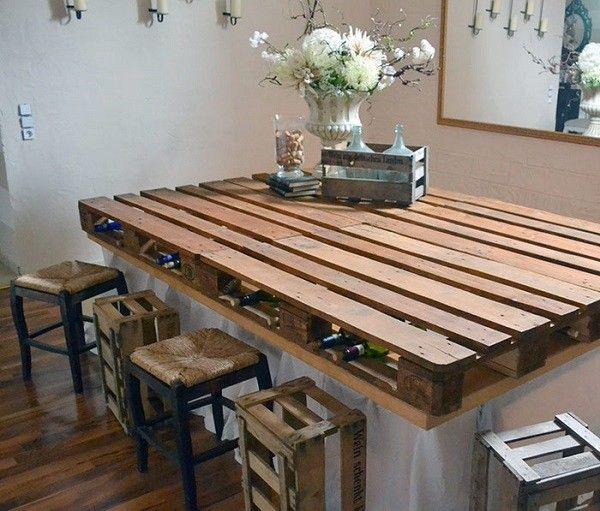 mesa de comedor de palets de madera - Palet De Madera