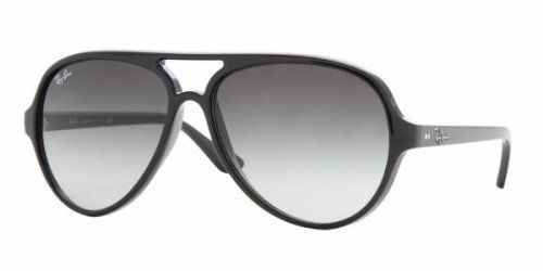 e67787fd0925e Ray Ban RB4125 Cats 5000 601 32 Sunglasses Black Frame w  Crystal Gray  Gradient Lens Size 59-13-135 by Luxottica.  110.99
