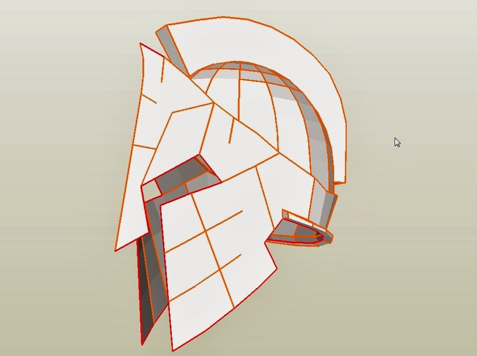 Spartan 300 king leonidas costume helmet diy cardboard for Spartan mask template